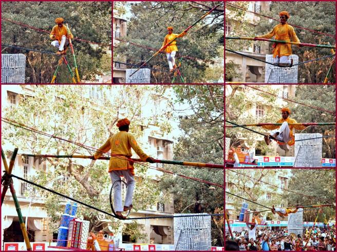 The 'Dombari' displaying their formidable skills!