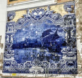 An old tiled mural, more than a century old!