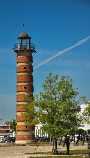 The old brick lighthouse.