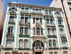 An apartment block along the Rossio Square
