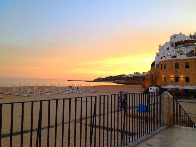 Albufeira Beach as Sunset approaches...