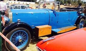 The Blue Daimler that once belonged to Sir Motilal Nehru.