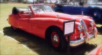 A cherry red Jaguar - enough said!