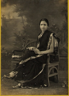 I cherish My Granny...a studio picture taken to show prospective bridegrooms no doubt!