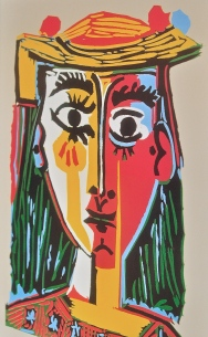 Woman in a Hat by Picasso. I love this print that I bought in Barcelona :)