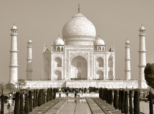The Taj - a ancient symbol of enduring love. 2 decades in the building!