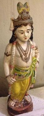A beautiful antique figurine of Lord Krishna I found in our hotel in Pondicherry.
