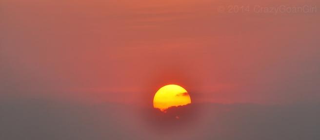 Sundown at Bangalore...